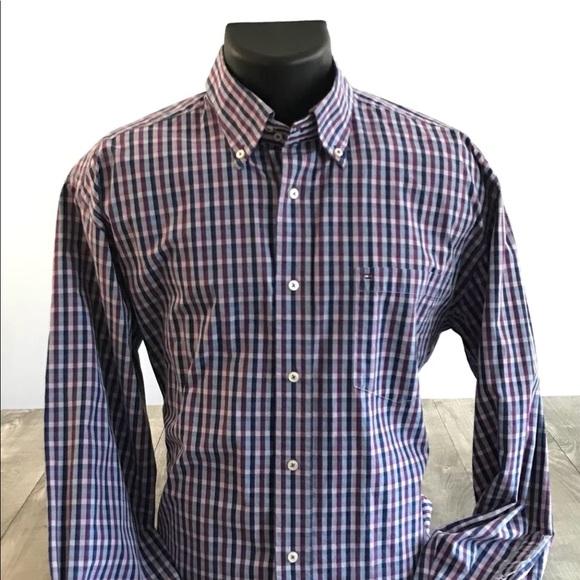 9e11cd74 Tommy Hilfiger Shirts | 80s 2 Ply Fabric Lng Slv Button Dwn | Poshmark